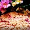 Овсяный пирог с творогом и клубникой