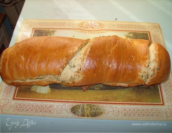 Ароматный хлеб с чесночным маслом