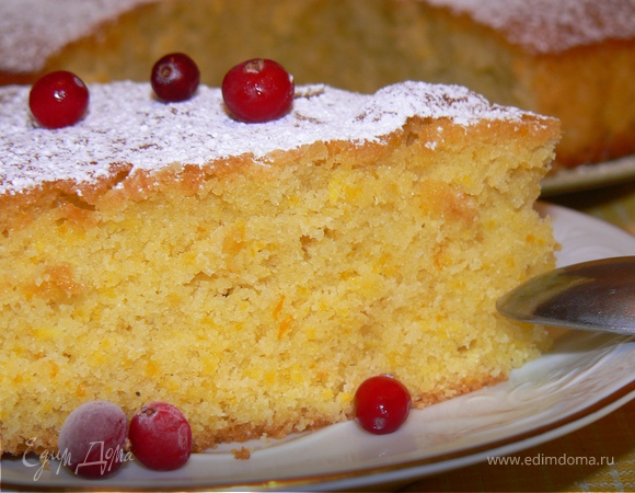 Aпельсиновый пирог с кукурузной мукой