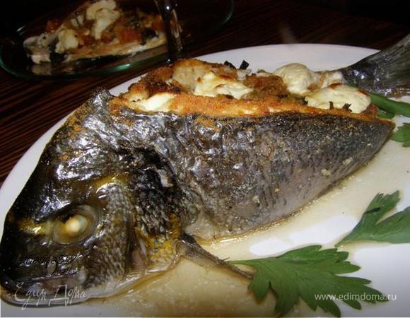 Дорада с овощами по-средиземноморски