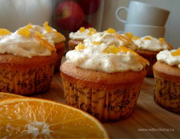 Апельсиновые кексики