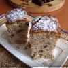 Кекс с фиником, грецким орехом и лимонным флёром