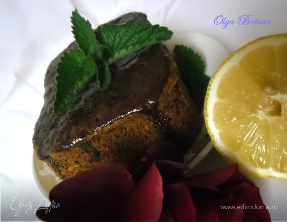 Цитрусовый кекс с мелиссой