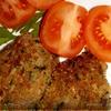 Котлеты из печеного баклажана с гречневой мукой