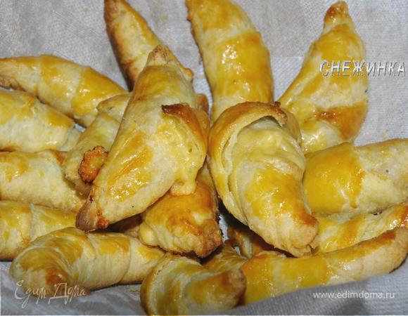 """""""Круассаны"""" (Les croissants) из домашнего слоеного теста с шоколадной начинкой и не только"""