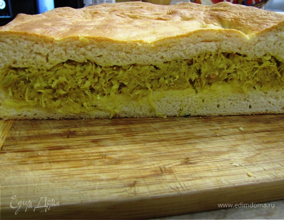 Пирог с капустой - постный и непостный варианты (повтор)