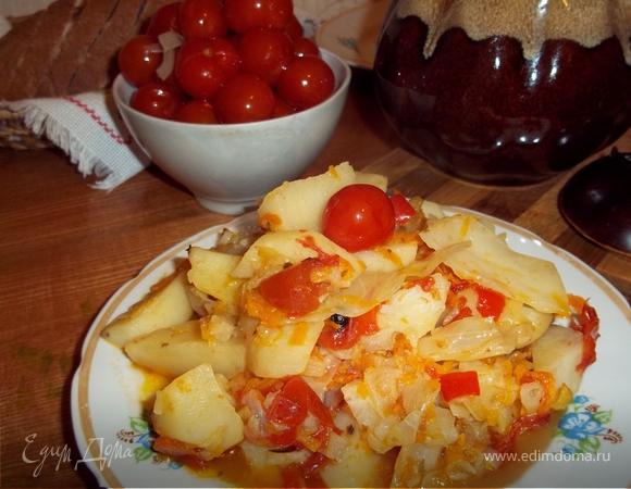 Овощи в горшочке (для постящихся)