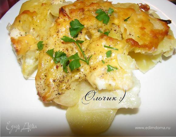 Картошечка с кольраби под сыром