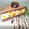 Чизкейк с белым шоколадом, курагой и ромом.