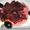 Утиная грудка в луково-карамельном соусе с ягодами