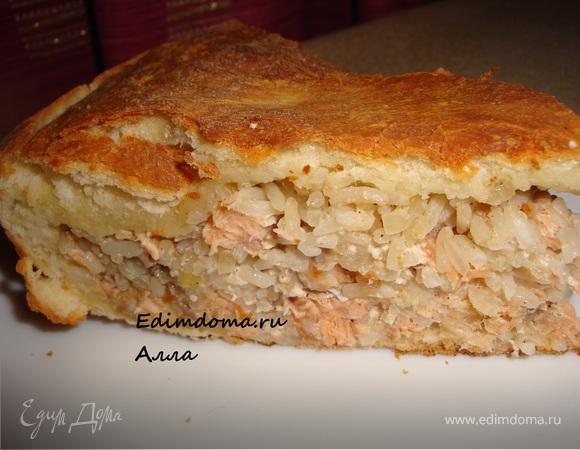 Пирог с рыбой (семгой)