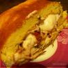 Воздушный рулет с рикоттой, козьим сыром, вялеными томатами и базиликом