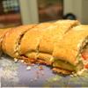 Фокачча фаршированная сладким перцем, розмарином и сыром