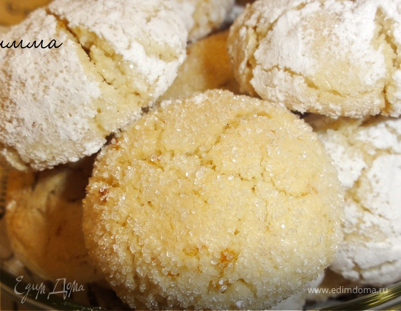 Миндально-апельсиновое печенье (без муки)