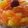 Морковный салат с персиками и апельсиновым соком