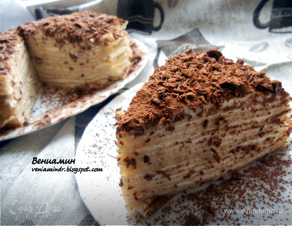 """Блинный торт """"Тирамису"""" для Ольга♥Ч"""