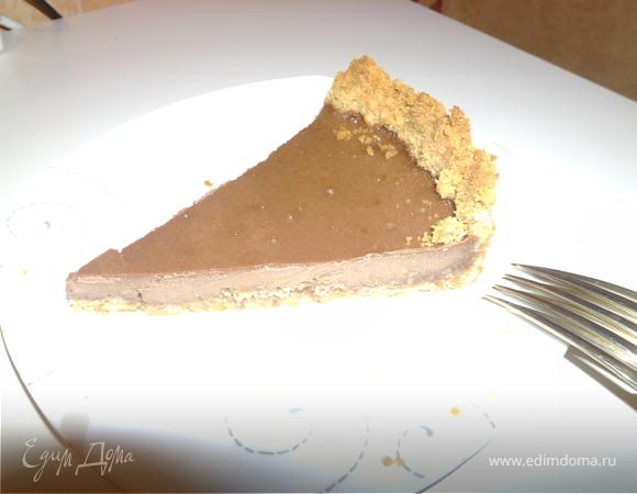 Нежный шоколадный тарт