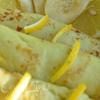 Манные блины с банановой начинкой