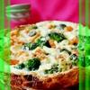 Закусочный пирог с брокколи,креветками и пармезаном