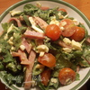 Лёгкий салат с зеленью и ветчиной с ароматной цитрусовой заправкой