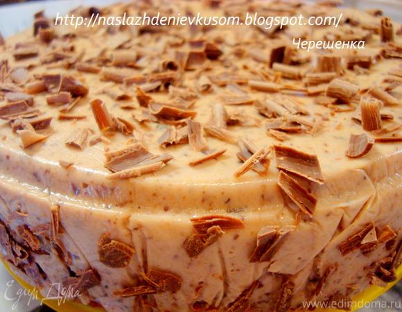 Торт с творожно-сливовым суфле