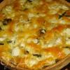 Пирог с рыбой и шпинатом