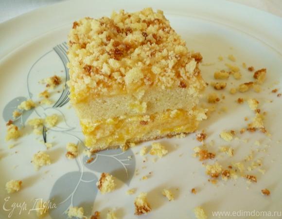 Солнечный тортик с кремом из кураги