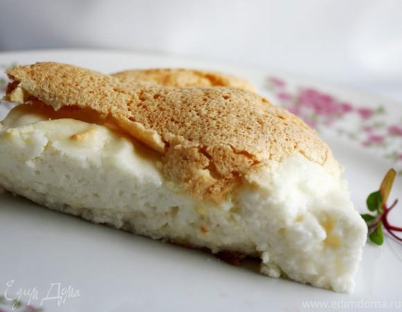 Творожно-бисквитный пирог