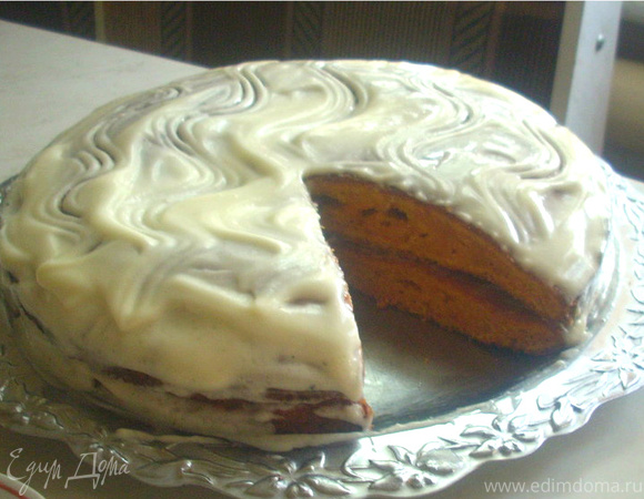 Ароматный морковный пирог