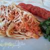 Паста с семгой в томатном соусе