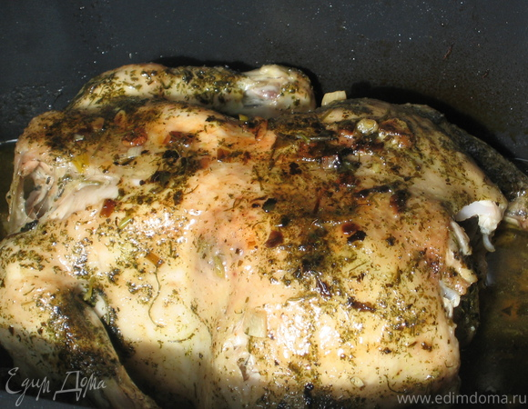 Курица в прованских травах с пивом