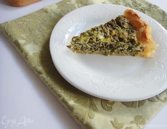 Пирог с зеленью и творогом