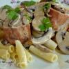 Свиная вырезка в грибном соусе