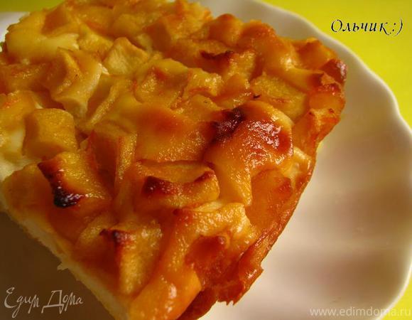 Творожное суфле с карамелизированными яблоками