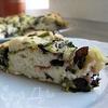 Лепешка с зеленью и моцареллой