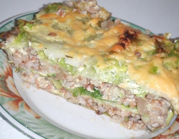 Слоеный капустный пирог