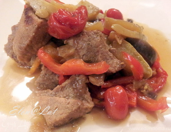 Тушеная говядина с овощами в мультиварке