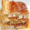 Слоеный пирог с начинкой из индейки и сыра