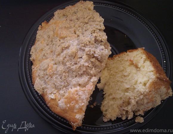 Яблочный кекс с овсяной корочкой