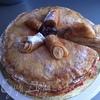 Торт блинный с клубникой