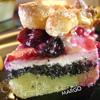 Творожно-маковый пирог с ягодами