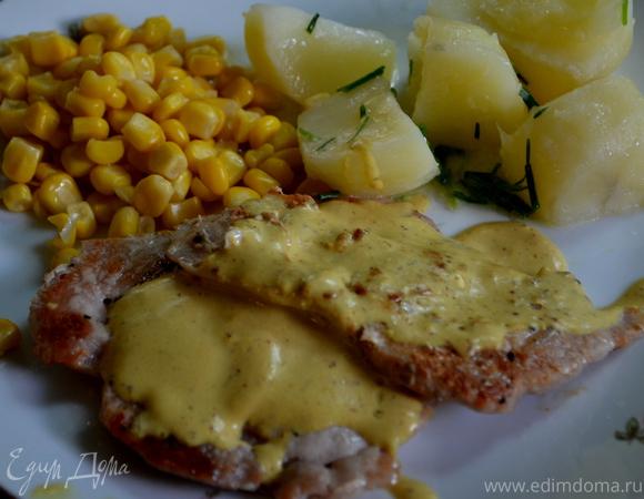 Свинина с горчичным соусом