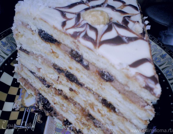 рецепт торт праздничный с черносливом