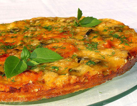 Кабачковое тесто для пиццы