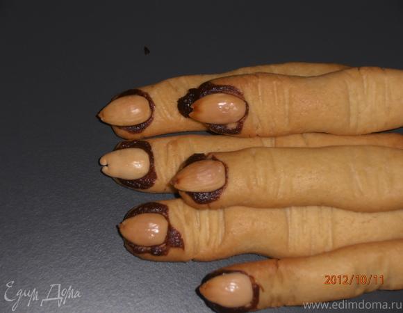 """Печенье """"Ведьмины пальчики"""" для """"Halloween"""""""