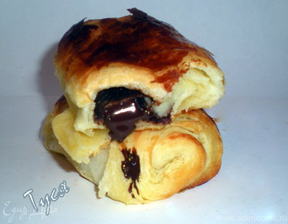 Слойки с шоколадом от Ришара Бертине