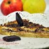 Чизкейк с яблоками и темным шоколадом