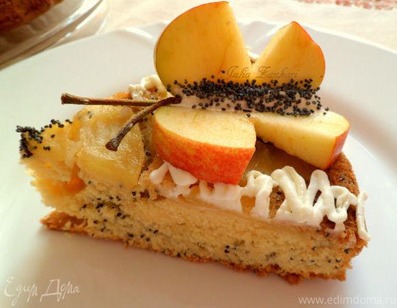 Маковый пирог с яблоками