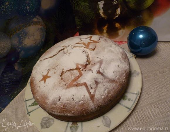 Творожный кекс на кефире с вяленой вишней