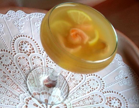 Креветки в шампанском